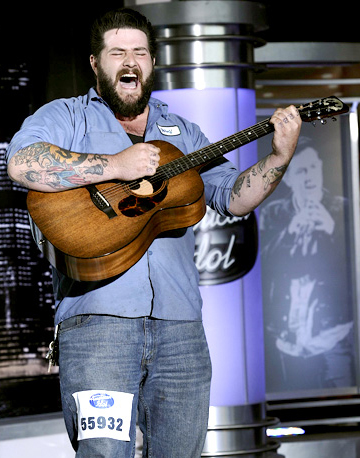 "Eudora's Jason ""Wolf"" Hamlin made it to the Hollywood round of ""American Idol."""