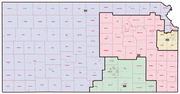 A plan that state Sen. Anthony Hensley, D-Topeka, said is being hatched by Republicans would put Wyandotte County in the massive 1st District. Douglas County would be in the 3rd District.