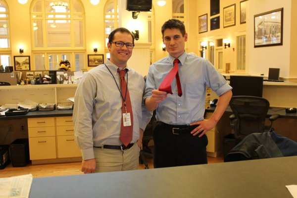 Alex Parker, left, digital editor, and Shaun Hittle, reporter.