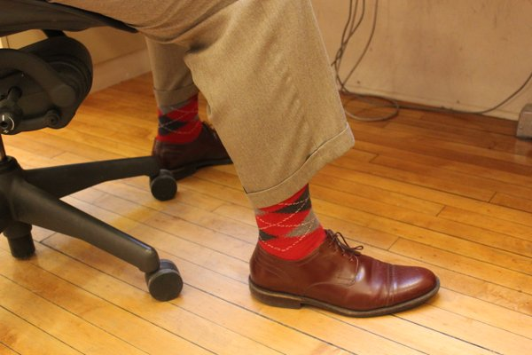 Check out managing editor Dennis Anderson's socks!