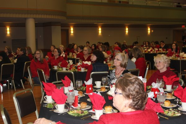 About 200 people attended the eighth annual Go Red For Women Luncheon and Expo on Friday, Feb. 10, 2012, in the Kansas Memorial Union ballroom. The event raises awareness about heart disease and money for the American Heart Association.