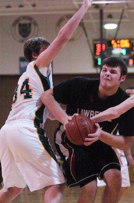 Lawrence High boys basketball vs. Shawnee Mission South ...