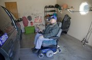 Ron Miller, Lawrence, is working with others to establish a support group for people who use wheelchairs. Miller, photographed at his home Feb, 24, 2012, expects the group will be a mix of social and educational functions.