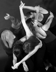 Susan Rieger, at center right, is a dancer who incorporates movement into therapy sessions.