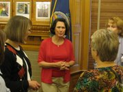 First Lady Mary Brownback on Tuesday announced winners of Kansas Book Festival grants.