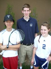 Seabury Academy seniors Guangwei Fu, boys tennis; Jesse May, golf; and Alyson Oliver, girls soccer; are some of the team leaders for the Seahawks this spring.