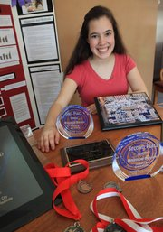 Sarina Farb, 18, a home-schooled senior who also takes classes at Free State High School, has been competing in science fairs for the past eight years. Over spring break, she earned the grand prize at the Greater Kansas City Science and Engineering Fair for a study in which she examined the effects of BPS, or bisphenol S.