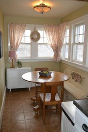 Before: Wanda Breeden rarely used the small kitchen nook in her 1863 Lawrence house.