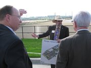 Kansas State's Ron Trewyn on Thursday speaks to members of the Kansas Board of Regents about the National Bio and Agro-Defense Facility. Board members looked at the site and then visited the Biosecurity Research Institute.