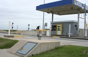 Tornado shelters are located at Kansas Turnpike exits throughout the state. As severe weather becomes more likely, the Turnpike authority is reminding travelers to seek shelter in the event of a tornado or other storm systems.