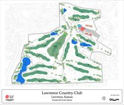 This illustration shows Lawrence Country Club, which April 27-29 will host the Big 12 Women's Golf Championships.