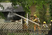 A garage fire broke out in the 900 block of Missouri around 2:30 pm on May 3, 2012. The garage had heavy fire damage to the inside and roof.