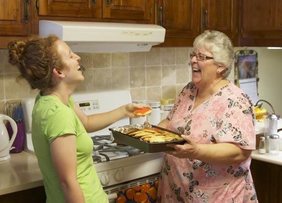 Caregivers enjoy making meals for residents