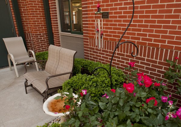 There are several areas where guests can enjoy the outdoors at Hope Lodge in downtown Kansas City.
