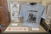 "Various pieces of local memorabilia from ""The Day After"" the movie are gathered for display at the Watkins Community Museum of History. Nick Krug/Journal-World Photo"