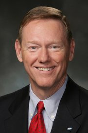 Alan Mulally, the president and CEO of the Ford Motor Co. Mulally received an honorary doctorate at Kansas University on Sunday.