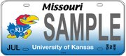 This license plate is a preliminary design the Kansas University Alumni Association submitted last summer, when it began the process seeking approval for a KU plate in Missouri.