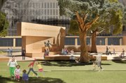 This model image, provided by Eisenhower Memorial Commission, shows the proposed Dwight D. Eisenhower Memorial to be built in Washington. Designers from architect Frank Gehry's firm unveiled some changes to a planned memorial honoring Eisenhower after hearing complaints from members of Eisenhower's family.
