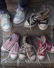 Susan Stuever is a fan of Converse shoes, from solid colors to two-toned and leopard skin.