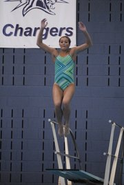 Free State junior Annie Soderberg advanced to the state diving final in Topeka on Friday, May 18.