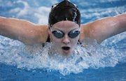 Lawrence High sophomore Gretchen Frick recorded the top time (2:10.27) in the 6A state 200-yard individual medley prelims on Friday in Topeka.