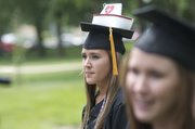 The decoration atop the cap of Chelsea Carnagie, Eudora, indicated she was one of 47 students graduating Sunday from the Baker University School of Nursing.