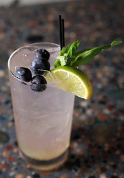 A Blueberry Gin Rickey is a cool summertime patio sipper.