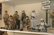 The one-sixth-scale toy industry is largely populated with World War II figures, like these from Steve Allen's personal collection.