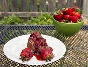 Delicious: Megan's strawberry kabobs with strawberry balsamic sauce can be cooked on the grill.