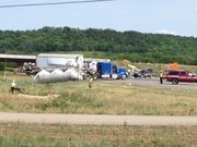 Two semitrailers collided near N. 1000 Road and U.S. 59, south of Lawrence.