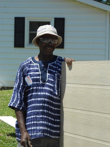 Hameed Yusuf is the patron of Lawrence Habitat's 80th partner family.