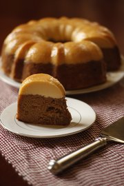 Three-in-one apple cake