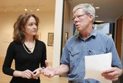 Lawrence Arts Center director Susan Tate and Lawrence Mayor Bob Schumm talk about plans to acquire the property owned by The Salvation Army at 10th and New Hampshire streets. The center wants to raze the building and create an outdoor space for art and performances.