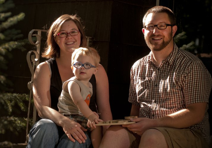 Kyle and Amelia Stern, of Kansas City, Mo., were treated for postpartum mood disorders after their son Sam was born. Both said medication was important in their recoveries.