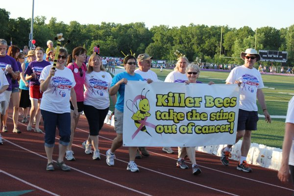Watch out for the Killer Bees team as walk around the track during Relay For Life of Douglas County.