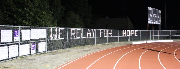 A sign at Relay For Life of Douglas provides inspiration in the fight against cancer.
