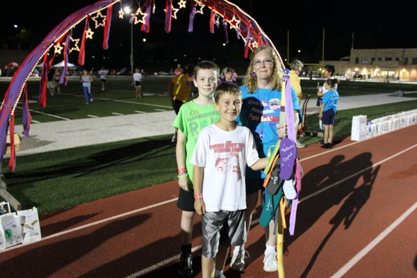 "The winner of the Spirit Stick competition at Relay For Life of Douglas County was Team Paulsen! The theme this year was ""Step by Step — Each Closer to a Cure."""