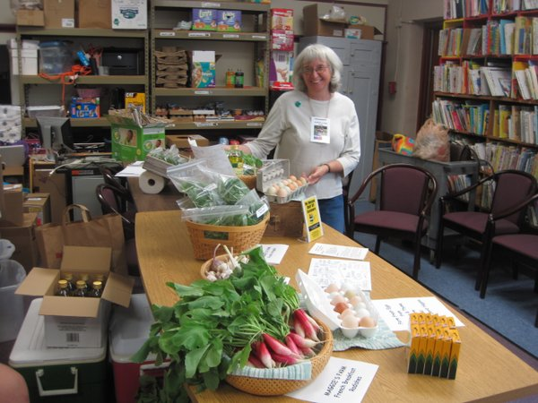 Barbara of Maggie's Farm at Ballard Community Serves