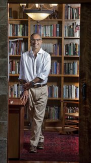 KU associate law dean Raj Bhala, pictured in his home, is widely recognized as one of the pre-eminent experts on international and Islamic law. In 2011, he received the George and Eleanor Woodyard International Educator Award, a university-wide award for outstanding contributions to international efforts.
