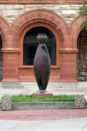 """""""Water Carrier"""" near Spooner Hall"""