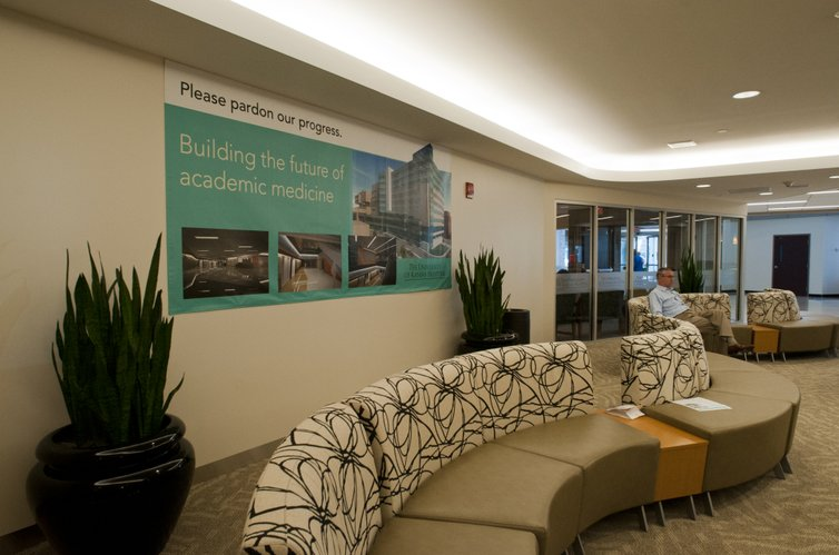 Ku hospital ranks third among nations top 101 academic medical a sign hangs in the main lobby of kansas university hospital where renovation work is under publicscrutiny Images