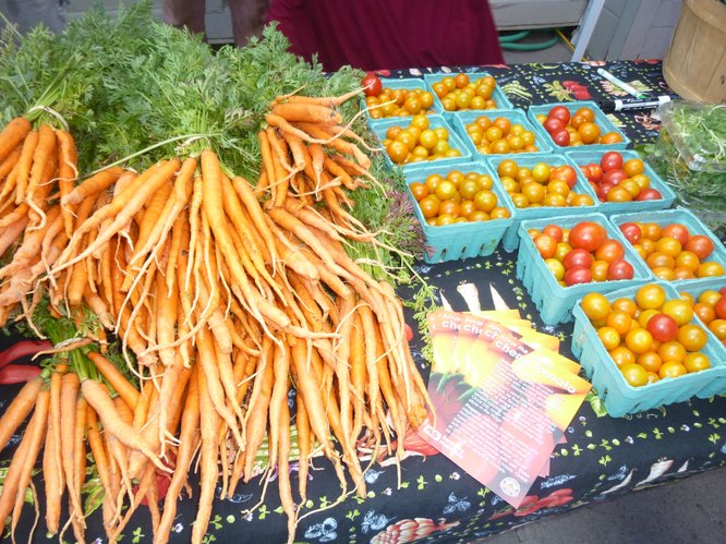 Carrots and Cherry Tomatoes are in full swing at Cottin&#39;s Hardware Farmers Market!