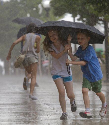 Картинки лето дождь для детей