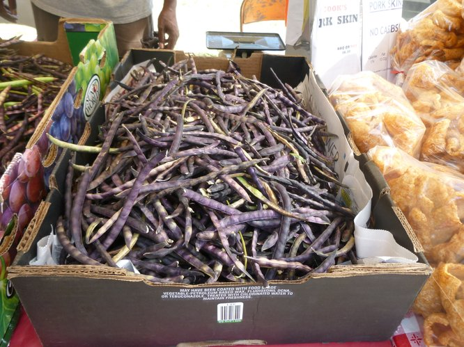 Purple Hull Peas from Cook's BBQ at Cottin's Hardware Farmers Market.