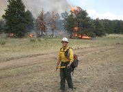 Haskell student Nick Cesare has spent his summer fighting wildfires in Colorado, New Mexico and Idaho.