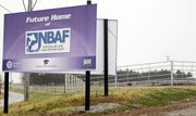 In this Nov. 17, 2010 file photo, a sign marks the future home of the National Bio and Agro-Defense Facility on the Kansas State University campus in Manhattan, Kan. Gov. Sam Brownback and members of the states congressional delegation announced Wednesday that the move indicated the federal department is committed to building the $1.14 billion National Bio and Agro-Defense Facility.