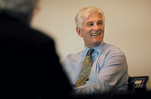 James Carlson, CEO of Amerigroup, one of the private insurance companies that recently signed Medicaid managed care contracts with the state of Kansas.