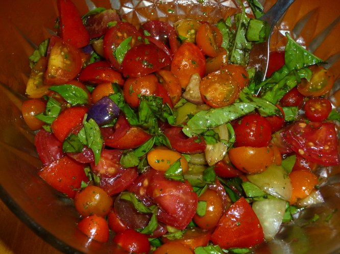 Fresh tomatoes can be served in a variety of ways for a quick and easy entree or side dish.