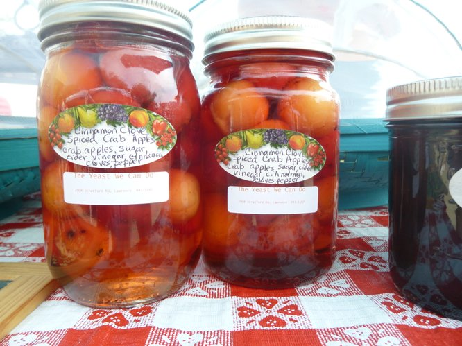 Pickled Fieldstone Crabapples available from The Yeast We Ca Do at Cottin&#39;s Hardware Farmers Market.