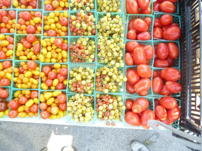 Roma, cherry and grape tomatoes from Avery's Produce at Cottin's Hardware Farmers Marker.
